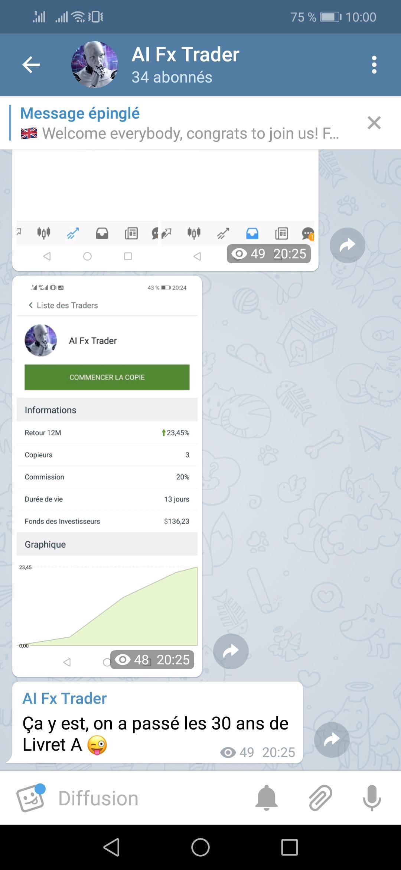 Telegram AI Fx Trader drtrader.fr trading robot forex signaux
